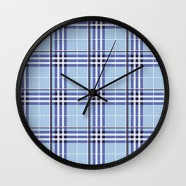 AFE Blue Tartan Wall Clock