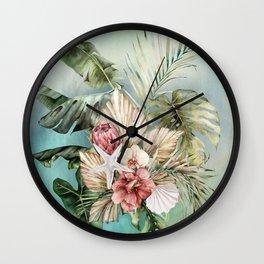 Coastal Tropics Wall Clock
