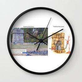 Real vs. Art: Treblinka Monument Wall Clock