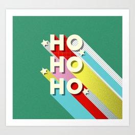 Christmas typography Art Print