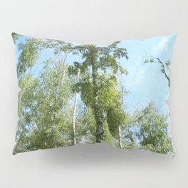 Nature. Blue Sky, Green Trees Pillow Sham