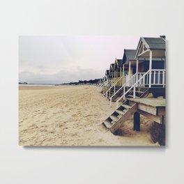 Beach huts. Metal Print