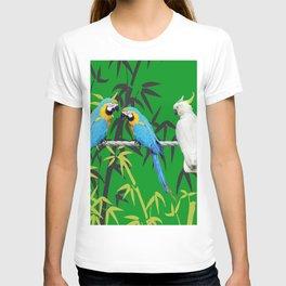 Kakadu - Macaw Bamboo Rope Jungle green T-shirt