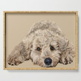Labradoodle Serving Tray