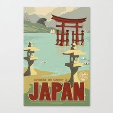 Kaiju Travel Poster Canvas Print