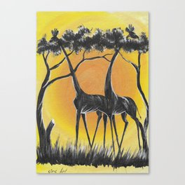 Sun for Giraffes ( from Malawi Africa ) Canvas Print