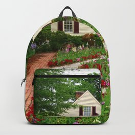 Cottage Garden - Colonial Williamsburg Backpack