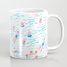 swimmers in the sea pattern Coffee Mug