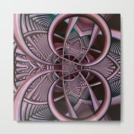 Mind-boggling, fractal abstract Metal Print
