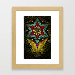 Sacred Geometry for your daily life- SRI YANTRA Framed Art Print