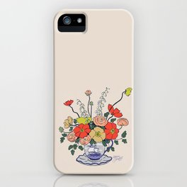 Teacup Flowers iPhone Case