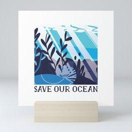 SAVE OUR OCEAN Mini Art Print
