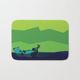 River Otter Illustration Bath Mat
