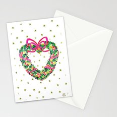 Xmas Heart Wreath Stationery Cards