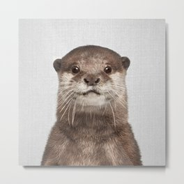 Otter - Colorful Metal Print