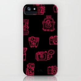 Camera: Pink - pop art illustration iPhone Case