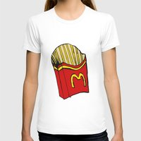 fries T-shirts featuring Large Fries by Daniel Emmerig