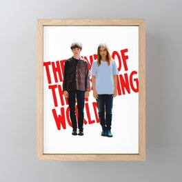 The end of the f ing world series Framed Mini Art Print