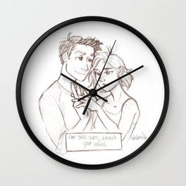 Sorry About Your Hand  Wall Clock