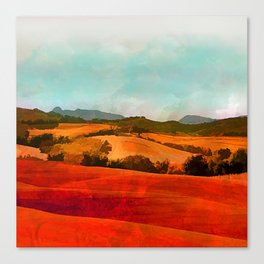 Landscape with hills Canvas Print