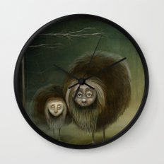 Mabel and Mo Wall Clock