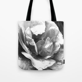 Morning Rose - greyscale version Tote Bag