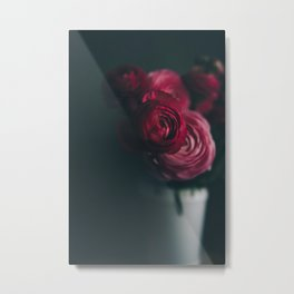 Red Ranunculus Metal Print