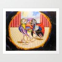 theatre Art Prints featuring Theatre by Vargamari