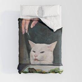Woman Yelling at Cat Meme-2 Comforters