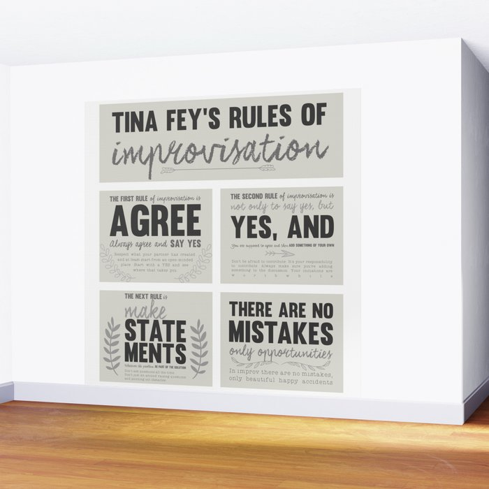 Tina Fey's Rules of Improvisation Wall Mural