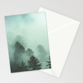 Magnificent Morning - Foggy Redwood Forest Nature Photography Stationery Cards
