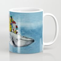 the whale Mugs featuring whale by Кaterina Кalinich