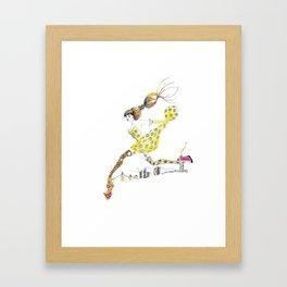 Legging It Framed Art Print