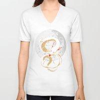 dragon ball V-neck T-shirts featuring Black Dragon by TxzDesign