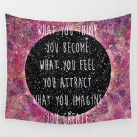 law Wall Tapestries featuring Law of Attraction by Bohemian Gypsy Jane