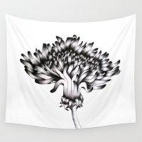 dandelion Wall Tapestries featuring Dandelion by ECMazur