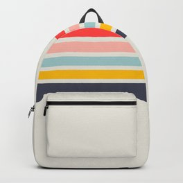 Naomori - Classic Minimal Retro Stripes Backpack