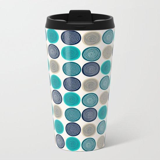 Pattern 9 Metal Travel Mug