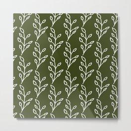 Feeling of lightness Pattern- Pine needle green Metal Print