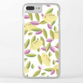 Vintage Lemons Clear iPhone Case
