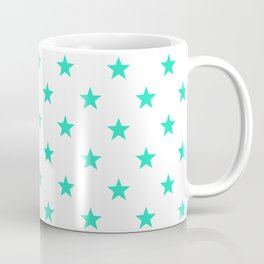 Stary stars - Tiffany blue stars pattern Coffee Mug