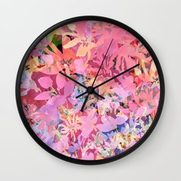 Peach Poppy Garden Wall Clock