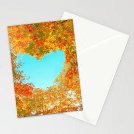 Autumn forest background Stationery Cards