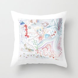 Easy Uneasy Throw Pillow