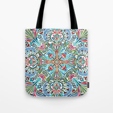 The middle of the Earth mandala Tote Bag