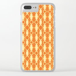 rotary tie-dye pattern in sunny yellows Clear iPhone Case