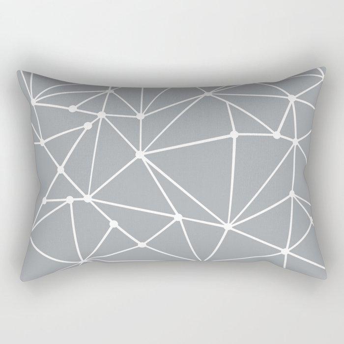 Ab Out Spots Grey Rectangular Pillow