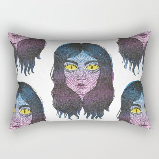 Reptile Girl Rectangular Pillow