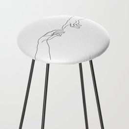 Creation of Adam Minimal Drawing Counter Stool