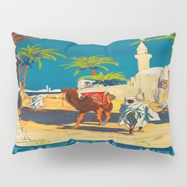 Vintage poster - Tripoli Pillow Sham